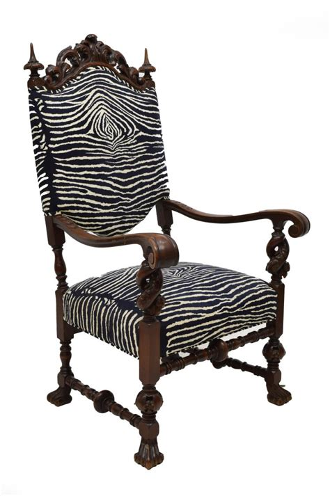 zebra pattern chair mahogany zebra pattern upholstered arm chair