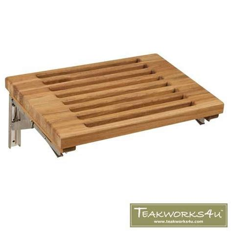 wall mounted folding bench 18 quot wall mount fold down bench with slats teakworks4u