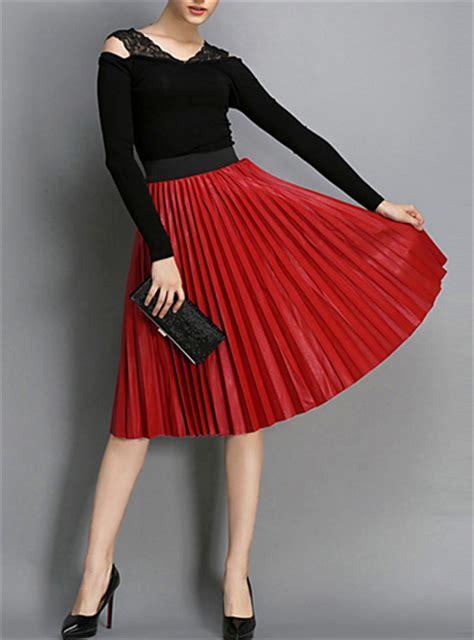 supernova sale purple solid chiffon pleated skirt womens pleated skirt solid length