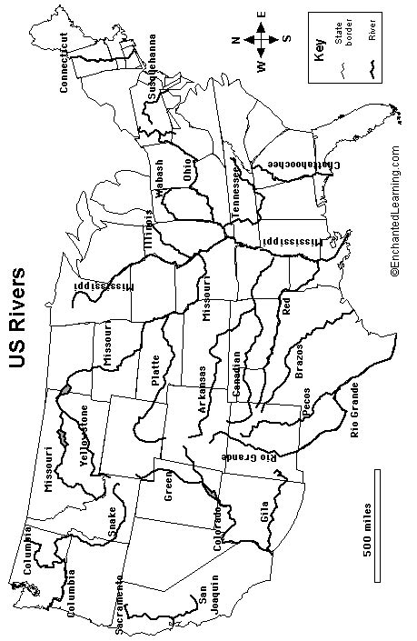 map of usa with rivers and mountains blank map of united states with major rivers