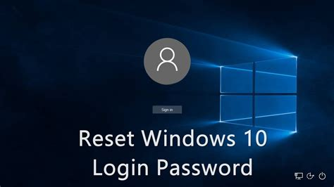 resetting windows user password 3 ways to reset windows 10 login administrator password
