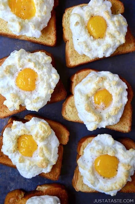 egg clouds cloud eggs on toast just a taste