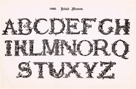 Printable Vintage Fonts | antique alphabet printable ornate font knick of time