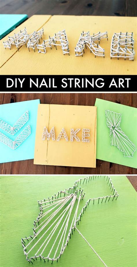 Diy Nail And String - diy basics nail string nail string diy string