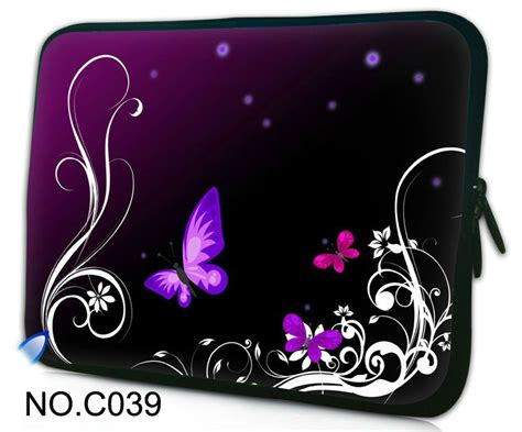 Pouch Hp Sarung Hp Butterfly 11 6 quot 12 quot purple butterfly laptop sleeve bag cover for hp dell acer ibm thinkpad asus 11 6
