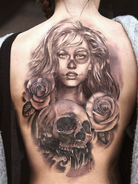 tattoo girl skull chicano tattoos designs ideas and meaning tattoos for you