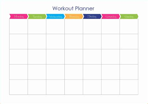 blank workout schedule template blank workout calendar template calendar templates