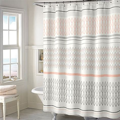 blush shower curtain norway shower curtain in blush bed bath beyond