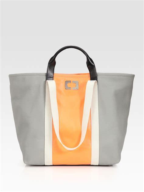 Designer Diane Furstenberg Go Green Canvas Tote by Diane Furstenberg Large Kaya Coated Canvas Tote Bag In