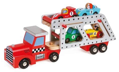 camion porte voiture jouet camion transporteur 4 voitures bois jouet janod story