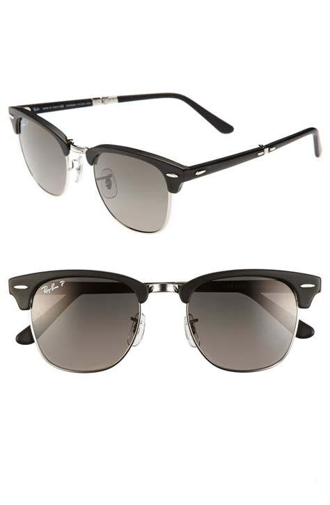 ban clubmaster 51mm polarized folding sunglasses in