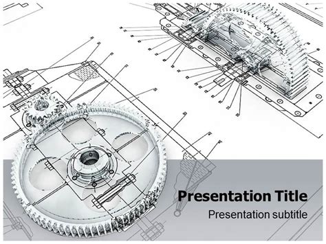 Engineering Powerpoint Template mechanical engineering technology ppt