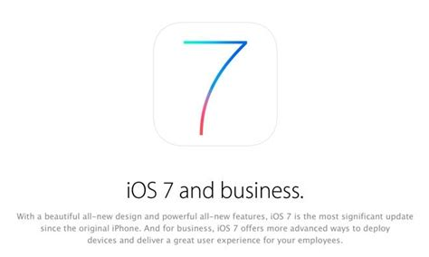 Which Section Of A Company Promotes The Business by Apple Promotes Ios 7 Enterprise Additions In Pitch To