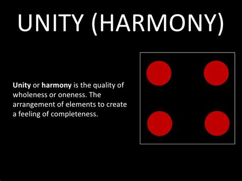 design elements harmony unity harmony unity or harmony