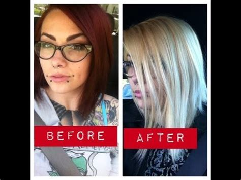 bleach shoo how lift fade and remove hair dye with a bleach bath to lighten hair toning wella t18 toner journey
