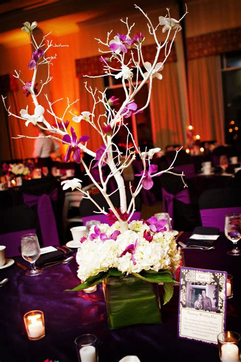tree centerpieces wedding lovely photos of purple tree wedding centerpieces ideas