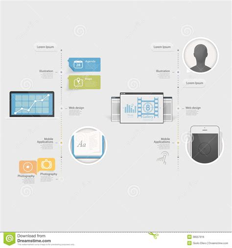 Infographics Design Ui Elements Collection Of Col Royalty Free Stock Image Image 38557916 Ui Designer Portfolio Templates