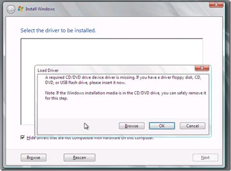 dvd format not supported error quot a required cd dvd device driver is missing quot error on