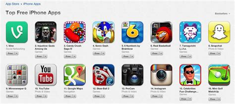 best free app vine tops list of free iphone apps in app store