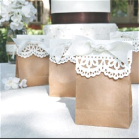 shabby chic wedding favors easy to make colored bags
