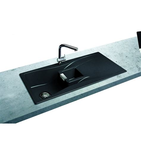 C Kitchen Sink Schock Waterfall 1 5 Bowl And Drainer 1000mm X 500mm Reversible Cristadur Inset Kitchen Sink Wat
