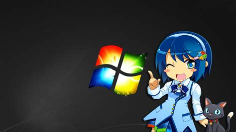 wallpaper anime 1600 x 900 anime windows girl wallpapers 1600x900 220266