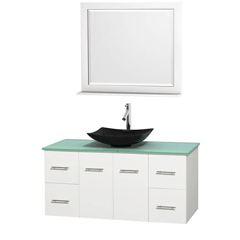Glass Vanity Countertop by Wyndham Collection Wcvw00948swhgggs4m36 Centra 48 Inch