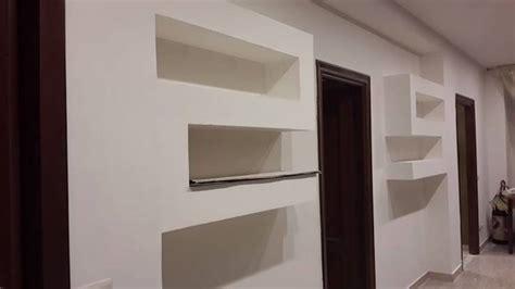librerie in cartongesso moderne come fare una parete in cartongesso