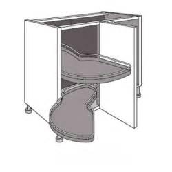 meuble de cuisine d angle bas avec 2 plateaux lemans