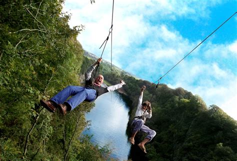 swinging in cornwall adrenalin quarry