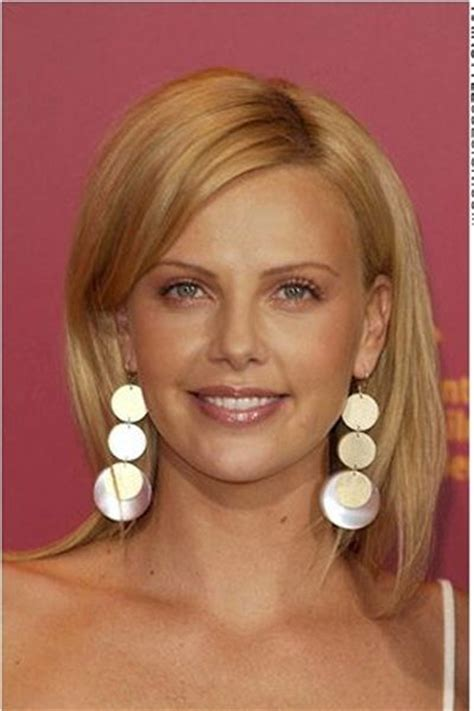 medium length hairstyles behind the ear 62 best images about charlize theron on pinterest curly