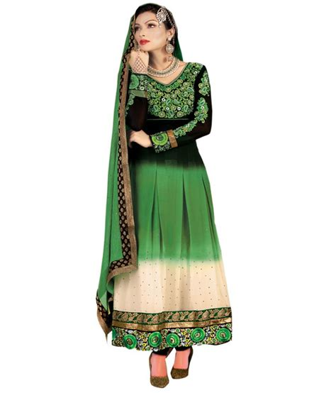 Queen S | queen s pure georgette embroidered anarkali gown dress