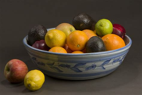 bowl of fruits bowls gull rock pottery