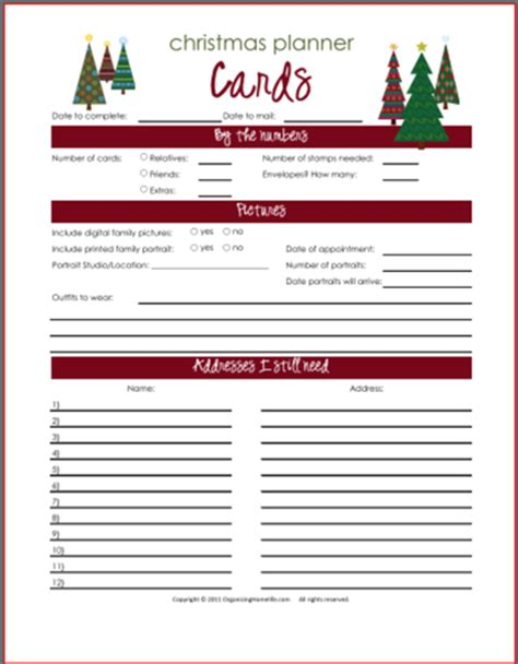printable planner cards free printables organizing homelife