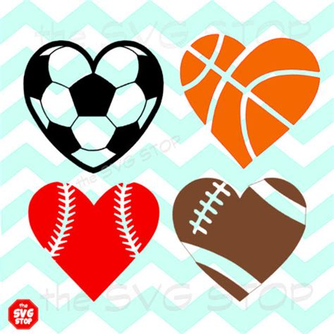 heart shaped clipart softball pencil and in color heart