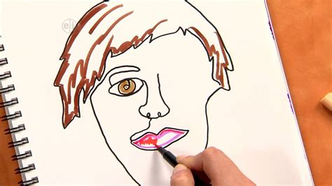 drawing and painting for adults how to draw an abstract self portrait project for