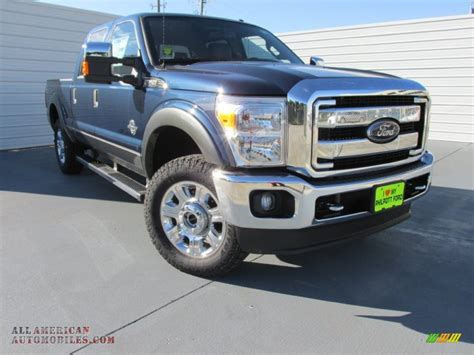 Ford Vehicles 2015 by 2015 Ford F250 Duty Lariat Crew Cab 4x4 In Blue