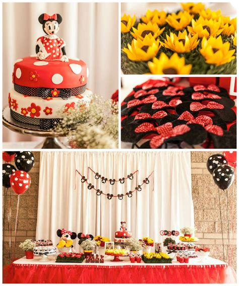 Minnie Mouse St Birthday Decorations by Kara S Ideas Minnie Mouse Birthday
