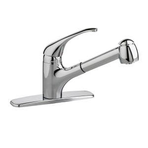 shop american standard reliant polished chrome 1 handle american standard reliant plus single handle pull out