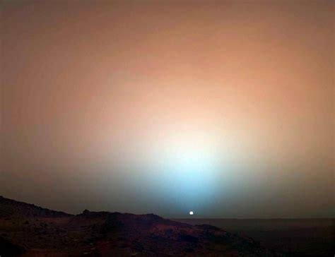 what gives mars its color expose the light sunset on mars sunset colors scinerds
