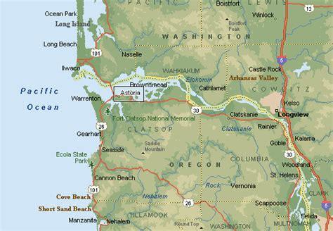 map astoria oregon map of astoria oregon rivers bay my stompin