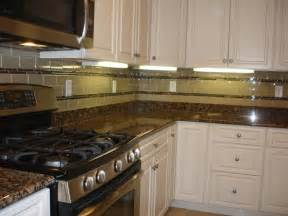 Glass Kitchen Backsplash Tile Glass 3x6 Kitchen Tile Backsplash With Two Granite And
