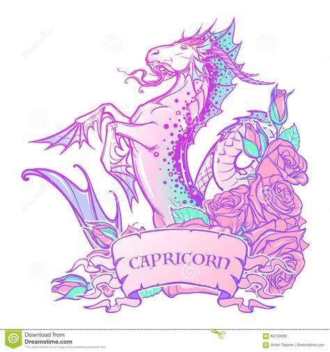 capricorn color zodiac sign capricorn pastel colors stock vector