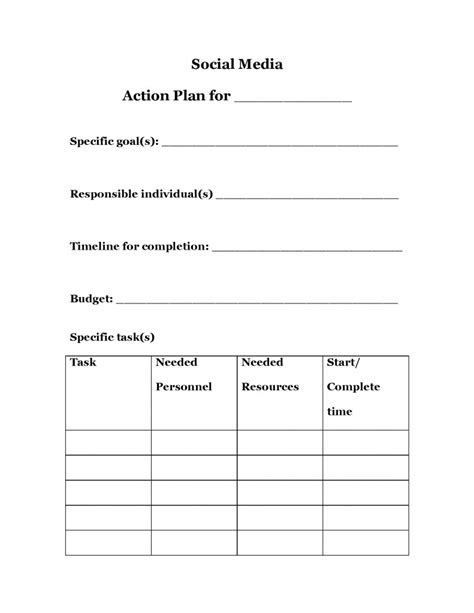 focus planning template strategic planning plan template search