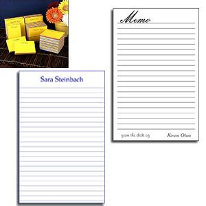 Printed Memo Pad custom printed note pads memo pads and scratch pads