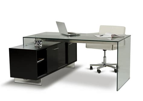 Black Office Desk Modern Office Desk