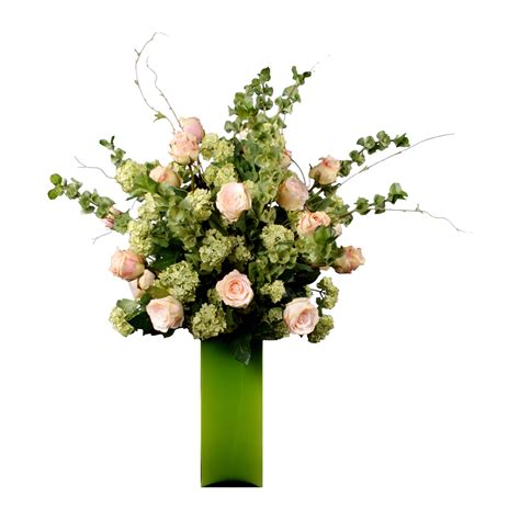 pink guelder artificial flower arrangement