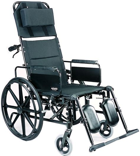 High Back Reclining Wheelchair by New Karman Km 5000f 36 Lbs T 6 Aluminum Reclining High