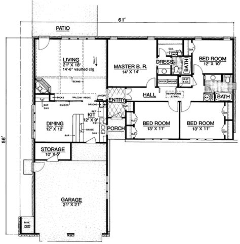 house plan 45 8 62 4 tudor style house plan 4 beds 2 baths 1644 sq ft plan
