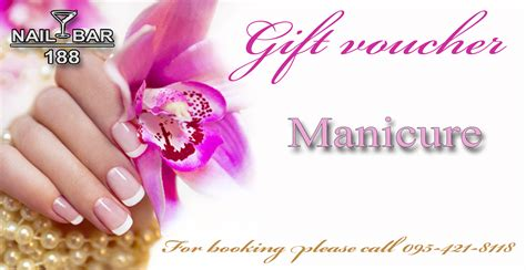 manicure gift card template manicure gift certificate gift ftempo